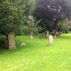 A view of St Thomas' burial ground